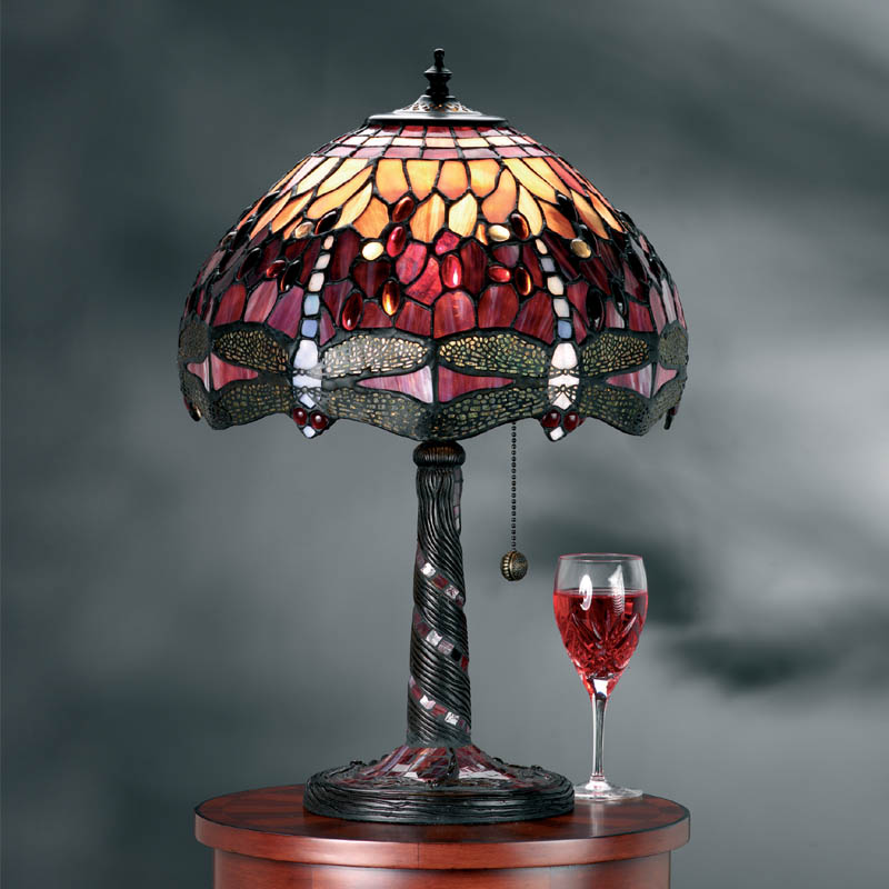 Red Dragonfly Medium Table Lamp