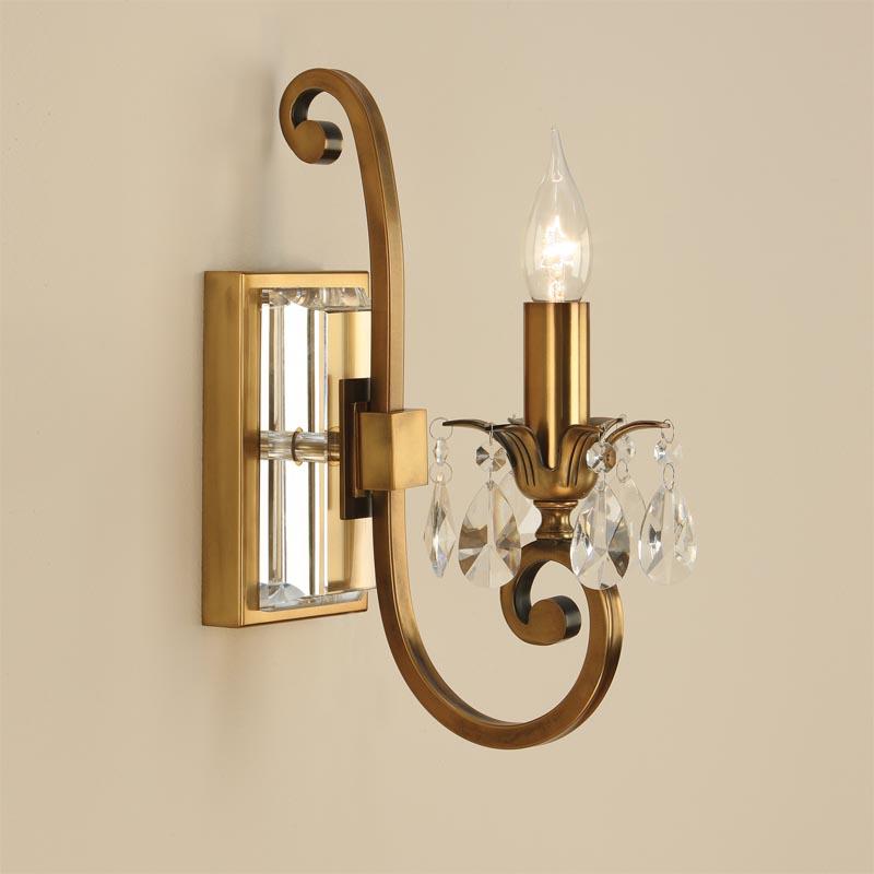 Brass Single Wall Lights : Oksana Brass Single Wall Light Light Innovation