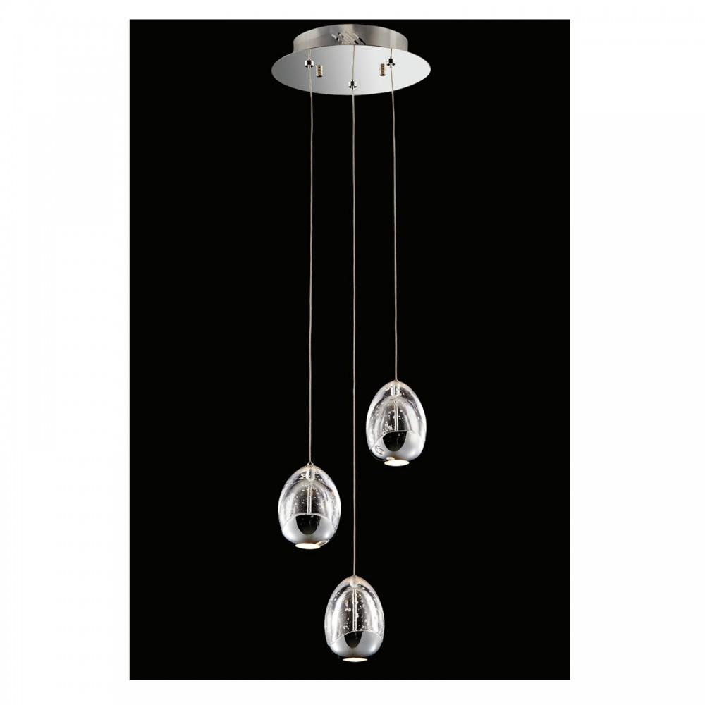 Spiral Chrome Wall Lights : Roma 3lt Spiral Pendant Chrome Light Innovation